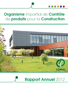COPRO annual report 2012 cover