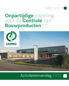 COPRO annual report 2013 cover